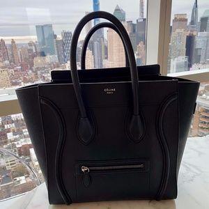 Celine Bags - MINI LUGGAGE HANDBAG IN DRUMMED CALFSKIN